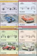 St. Lucia 652-659 Paare (kompl.Ausg.) Postfrisch 1984 Autos - St.Lucia (1979-...)