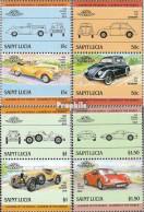 St. Lucia 740-747 Paare (kompl.Ausg.) Postfrisch 1985 Autos - St.Lucia (1979-...)