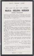BOLDERBERG-1902-KERMPT-1926-MARIA-HELENA BERDEN-DOODSPRENTJE-ZIE 2 SCANS - Images Religieuses