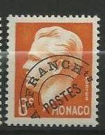 """Monaco Préo YT 10 """"  Prince Rainier 8F Orange """" 1943-51 Neuf ** - Monaco"""