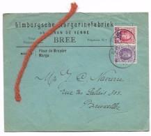 25 Ct + 35ct/40 Ct  BREE 24.IX.1928  Limbursche Margarinefabriek - 1922-1927 Houyoux