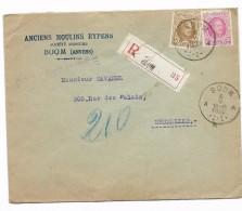 50 Ct N° 203 + 30 Ct Op Recom. BOOM 5.V.1925   ANCIENS MOULINS RYPENS - 1922-1927 Houyoux
