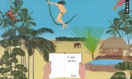 Marque-page °° Points - Il était Une Fois (jungle Tarzan) - Verso Carte Postale - 11x18 - Bookmarks