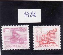 Jugoslawien 1986, Mi 2151**  And Mi 2186**, Ungebraucht - Ongebruikt