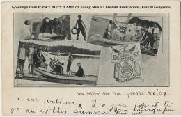 Jersey Boy's Camp YMCA Lake Wawayanda New Jersay Used 1907 Newark To East Orange - Scouting