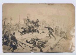 GUERRE 1870 PRISONNIER LE SOUS-LIEUTENANT PAUL DE VILLERS BLESSE DEVANT MOSBRONN ANCIENS CUIRASSIERS DE REIMS DEFAUTS - Other Wars