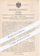 Original Patent - F. C. Nehse In Düsseldorf , 1900 , Rostfeuerung Mit Verdampfung Von Wasser , Feuerung , Rost , Ofen ! - Historische Dokumente