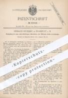 Original Patent - H. Bückling , Frankfurt  Main , 1885 , Schaltwerk Zum Abrücken Der Walzen Im Leergang , Mühle , Mühlen - Historische Dokumente