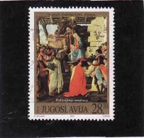 Jugoslawien 2002, Mi 3101 Used, Sandro Botticelli, Gebraucht - 1992-2003 Sozialistische Republik Jugoslawien