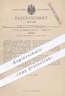 Original Patent - Otto Lundershausen In Berlin , 1886 , Klappspiegel , Spiegel , Spiegelglas , Haushalt , Hauswirtschaft - Historische Dokumente
