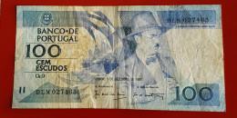 PORTUGAL CEM ESCUDOS (100) 3 Décembre 1987 Voir Les 2 Photos - Portugal