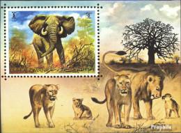Umm Al Kaiwain Block34 (kompl.Ausg.) Postfrisch 1971 Afrikanischer Elefant - Umm Al-Qaiwain