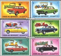 Umm Al Kaiwain 637A-642A (kompl.Ausg.) Postfrisch 1972 Automobile - Umm Al-Qaiwain
