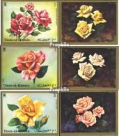 Umm Al Kaiwain 675B-680B (kompl.Ausg.) Postfrisch 1972 Rosen - Umm Al-Qiwain