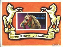Umm Al Kaiwain Block36 (kompl.Ausg.) Postfrisch 1972 Pferde - Umm Al-Qaiwain