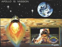 Umm Al Kaiwain Block41 (kompl.Ausg.) Postfrisch 1972 Apollo 15 - Umm Al-Qaiwain