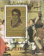 Fujeira Block67A (kompl.Ausg.) Gestempelt 1971 Ludwig Van Beethoven - Fujeira