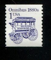 284190081 USA 1986 ** MNH SCOTT  2225b  Shiny  Gum Transportation Omnibus - Nuovi