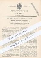 Original Patent - W. Matthies , Osterode / Harz , 1886 , Elektrische Uhren - Regulatoren , Uhr , Regulator , Uhrmacher - Historische Dokumente