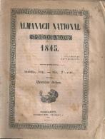 ALMANACH NATIONAL SUISSE 1845 - Oude Boeken