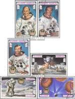 Ras Al Chaima 738A-743A (kompl.Ausg.) Gestempelt 1972 Apollo 16 - Ras Al-Khaimah