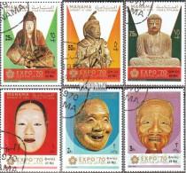 Manama 298A-303A (kompl.Ausg.) Gestempelt 1970 Japanische Skulpturen + Masken - Manama