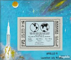 Manama Block41A (kompl.Ausg.) Postfrisch 1969 Apollo 11 - Manama