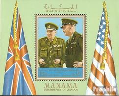 Manama Block94A (kompl.Ausg.) Postfrisch 1970 Dwight D. Eisenhower - Manama