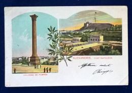 Cartolina Postale - Alexandria - Fort Napoleon - Colonne De Pompee - Alexandria