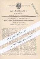 Original Patent - O. M. Hofwolt , Rostock , 1884 , Vorsichtzylinder Im Innern Von Zentrifugal - Sichtmaschinen , Mühlen - Historische Dokumente