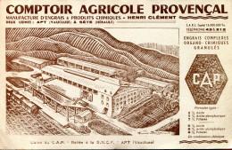 BVD1 AU PREMIER ACHETEUR Hérault, Vaucluse, Apt, Usine Du CAP, Comptoir Agricole Et Provençal - Buvards, Protège-cahiers Illustrés