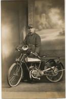 Real Photo Motorcycle In Sibiu Romania 1929 - Motorbikes