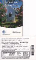 BERMUDA ISL. - Homes & Gardens, C & W Prepaid Card $10, Used - Bermuda