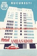 Hotel Ambasador Bucuresti - Etiquettes D'hotels