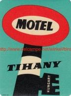Motel Tihany Hungary - Etiquettes D'hotels