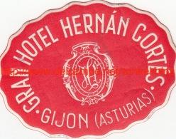 Gran Hotel HernanCortes Gijon Asturias - Etiquettes D'hotels