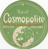 Hotel Cosmopolite Breda Holland - Etiquettes D'hotels