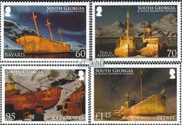 Süd-Georgien/Sandw.Inseln 503-506 (kompl.Ausg.) Postfrisch 2010 Schiffswracks - Südgeorgien
