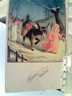 BOUN NATALE ILLUSTRATA ANGELI E ASINO   VB1959 FN3794 - Natale