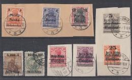 Polen Lot Germaniamarken Mit Aufdruck Briefstücke, Gestempelt - Briefmarken