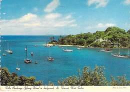 CARAÏBES ANTILLES Caribbean West Indies - ST VINCENT Villa Anchorage - Young Island In Backroom - CPSM Dentelée GF 1996 - Saint-Vincent-et-les Grenadines