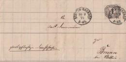 NDP Brief EF Minr.D4 Stettin-Bahnhof 30.8.1871 - Norddeutscher Postbezirk