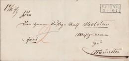 Preussen Brief R2 Rheine 2.1. Gel. Nach Münster - Preussen