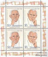Penrhyn 668-669 Kleinbogen (kompl.Ausg.) Postfrisch 2012 Papst Johannes Paul II. - Penrhyn
