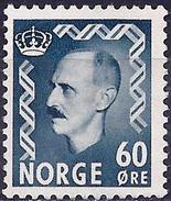 Norway 1951 - King Haakon VII ( Mi 367 - YT 330B ) MH* - Norwegen