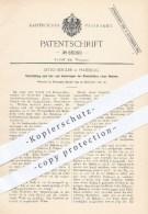 Original Patent - Otto Siegler , Hamburg , 1891 , Ein- U. Ausbringen Der Dammbalken Vom Wehr , Wasserbau , Damm , Wasser - Historische Dokumente