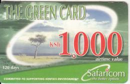 KENYA - Landscape, Safaricom Prepaid Card Kshs 1000, Exp.date 28/02/04, Used - Kenya
