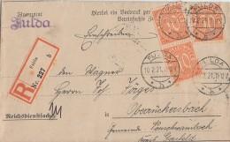 DR R-Brief Dienst Mef Minr.3x D20 Fulda 10.2.21 - Dienstpost