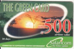 KENYA - Landscape, Safaricom Prepaid Card Kshs 500, Exp.date 31/12/03, Used - Kenya