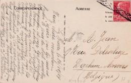 1927 - France - CP De Le Havre Vers Berchen, Belgique - Annulation à L'arrivée Par Roulette Belge, Vue Barques De Pêche - Storia Postale
